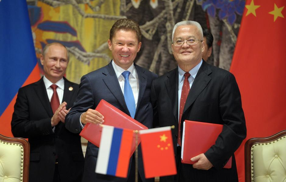 Russia's President Vladimir Putin applauded during an agreement signing ceremony in Shanghai.